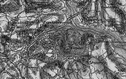 Old map of Carclew in 1895