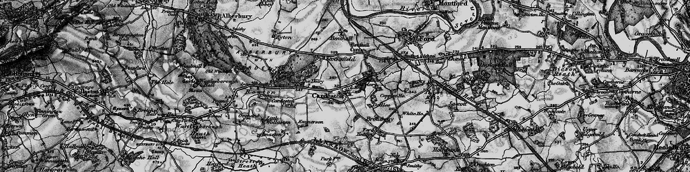 Old map of Whiston Priory in 1899