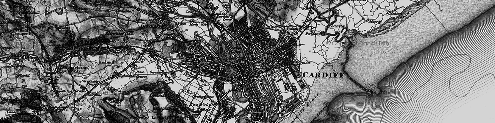 Old map of Cardiff in 1898