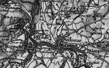 Old map of Cardigan in 1898
