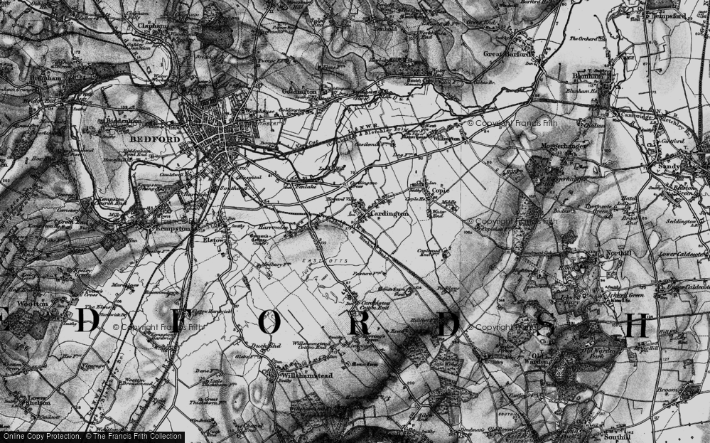 Old Map of Cardington, 1896 in 1896