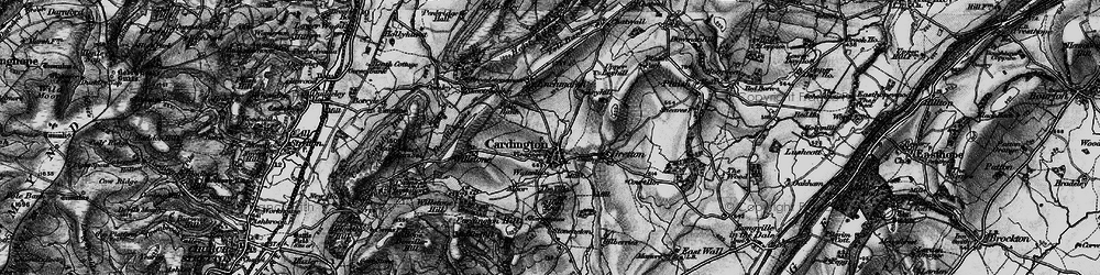 Old map of Cardington in 1899