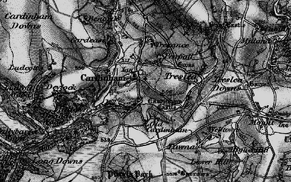 Old map of Cardinham in 1895