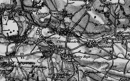 Old map of Carew in 1898