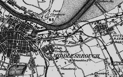 Old map of Cargo Fleet in 1898