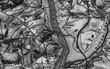 Old map of Cargreen in 1896