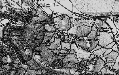 Old map of Aller Hill in 1898