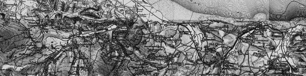 Old map of Carhampton in 1898