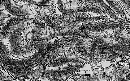 Old map of Carharrack in 1895