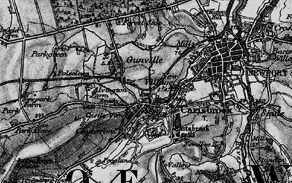 Old map of Carisbrooke in 1895