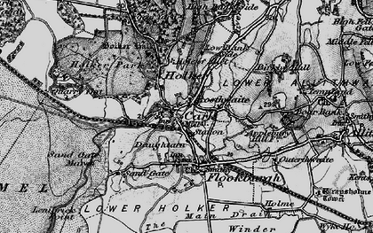 Old map of Cark in 1898