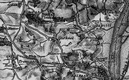 Old map of Carkeel in 1896