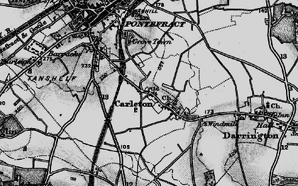 Old map of Carleton in 1896