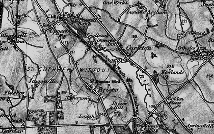 Old map of Woodbank Ho in 1897