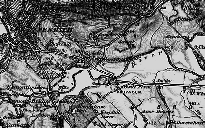 Old map of Whins Pond in 1897