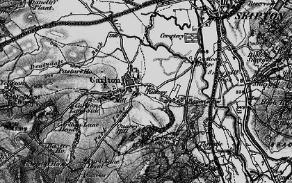 Old map of Carleton-in-Craven in 1898