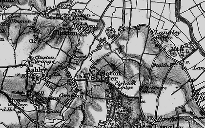 Old map of Langley Green in 1898