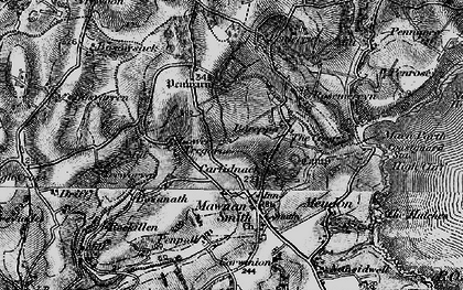 Old map of Carlidnack in 1895