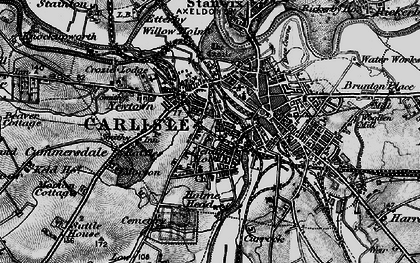 Old map of Carlisle in 1897