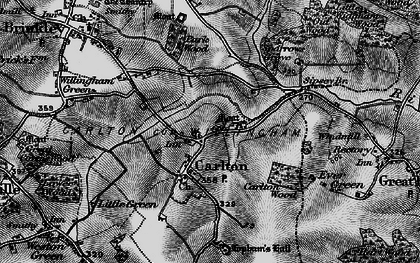 Old map of Carlton in 1895