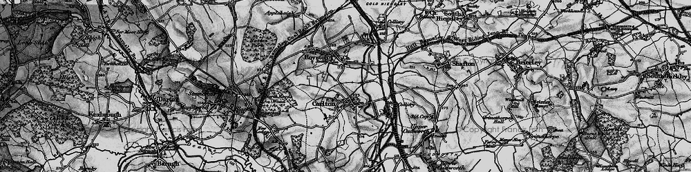 Old map of Carlton in 1896