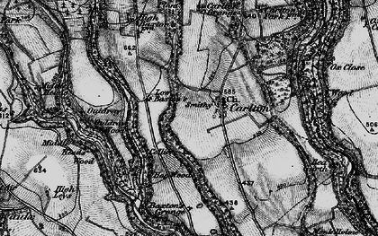 Old map of Ash Dale in 1898