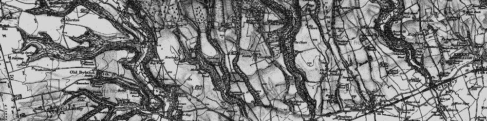 Old map of Acre Grain Plantn in 1898