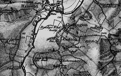 Old map of Carlton in 1898