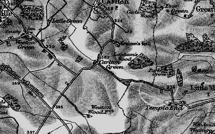 Old map of Carlton Green in 1895