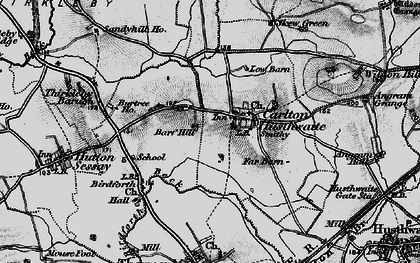 Old map of Carlton Husthwaite in 1898