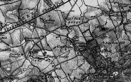 Old map of Thwaites Ho in 1898