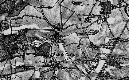 Old map of Carlton in Lindrick in 1899