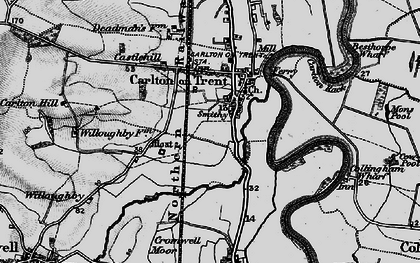 Old map of Carlton-on-Trent in 1899