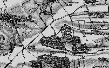 Old map of Askershaw Wood in 1898