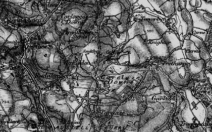 Old map of Carluddon in 1895