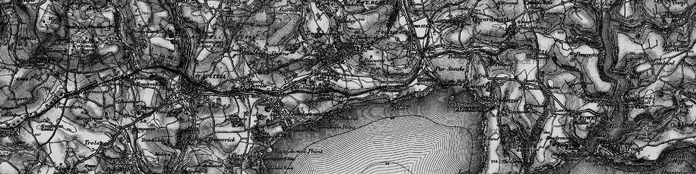Old map of Carlyon Bay in 1895