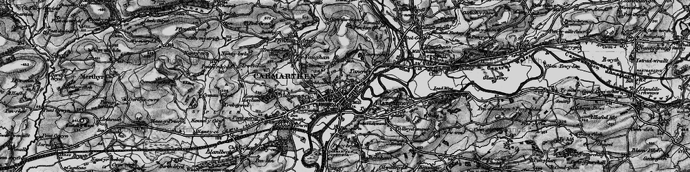 Old map of Carmarthen in 1898