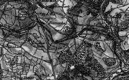 Old map of Carminow Cross in 1895