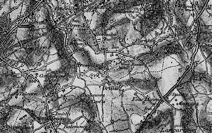 Old map of Carn Arthen in 1896
