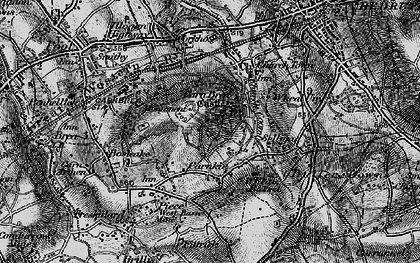 Old map of Carn Brea in 1896