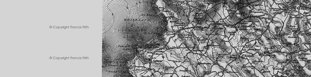 Old map of Whitesand Bay in 1895