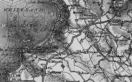Old map of Carn Towan in 1895