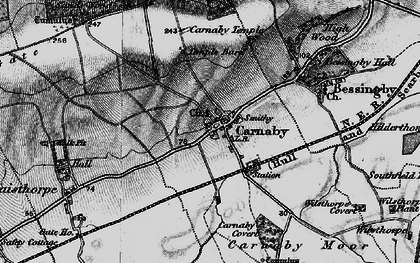 Old map of Carnaby in 1897