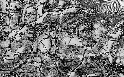 Old map of Carne in 1895