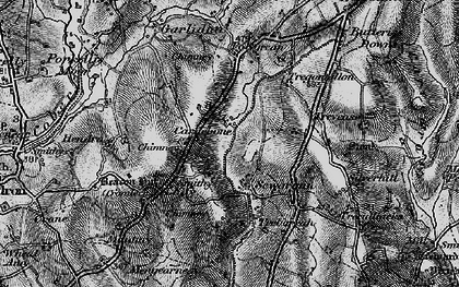 Old map of Carnebone in 1895