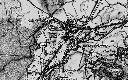 Old map of Carnforth in 1898