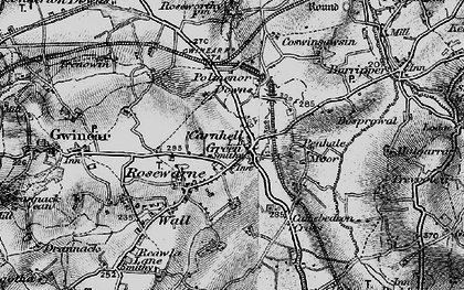 Old map of Carnhell Green in 1896
