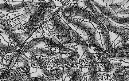 Old map of Carnhot in 1895