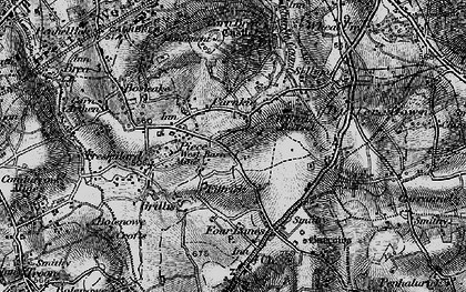 Old map of Carnkie in 1896