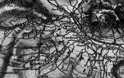 Old map of Carno in 1899